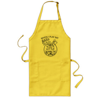 In My Own Little World Bass Long Apron
