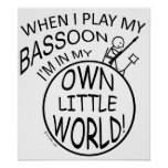 In My Own Little World Bassoon Print