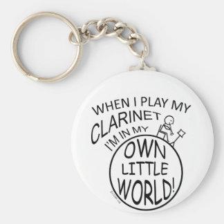 In My Own Little World Clarinet Keychains