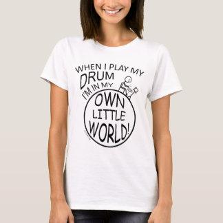 In My Own Little World Drum T-Shirt