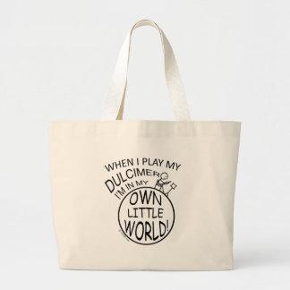 In My Own Little World Dulcimer Jumbo Tote Bag