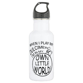 In My Own Little World Dulcimer Water Bottle