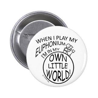 In My Own Little World Euphonium Pinback Button