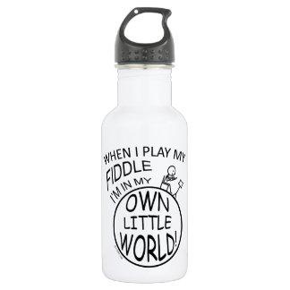 In My Own Little World Fiddle Stainless Steel Water Bottle