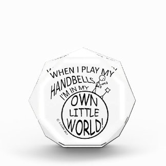 In My Own Little World Handbells Acrylic Award