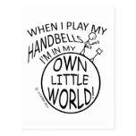 In My Own Little World Handbells Postcards