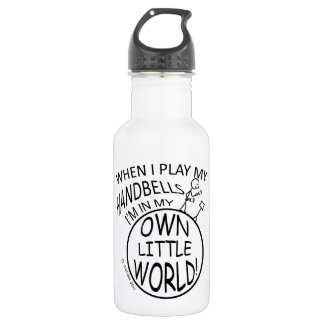 In My Own Little World Handbells Stainless Steel Water Bottle