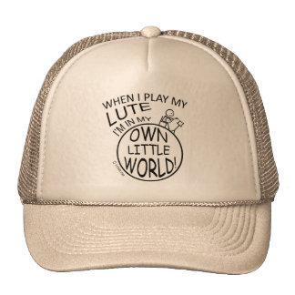 In My Own Little World Lute Trucker Hats