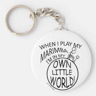 In My Own Little World Marimba Basic Round Button Keychain