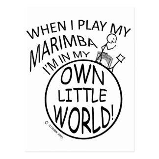 In My Own Little World Marimba Postcard