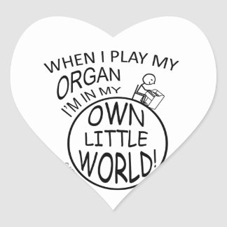 In My Own Little World Organ Heart Sticker