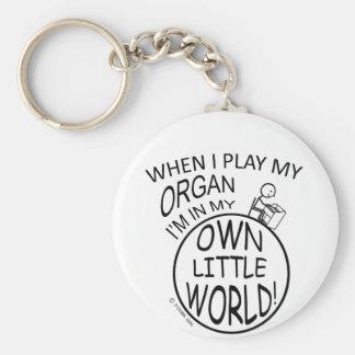 In My Own Little World Organ Keychain