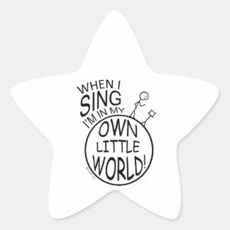 In My Own Little World Singing Star Sticker