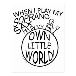 In My Own Little World Soprano Sax Postcard