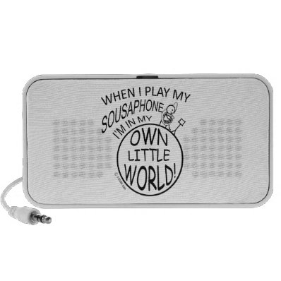 In My Own Little World Sousaphone Notebook Speaker