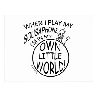 In My Own Little World Sousaphone Postcard
