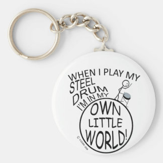 In My Own Little World Steel Drum Keychain
