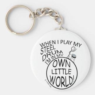 In My Own Little World Steel Drum Keychains