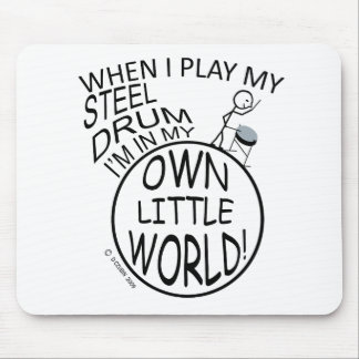 In My Own Little World Steel Drum Mouse Pad