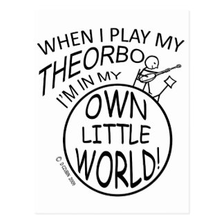 In My Own Little World Theorbo Postcard
