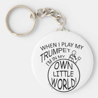 In My Own Little World Trumpet Keychain