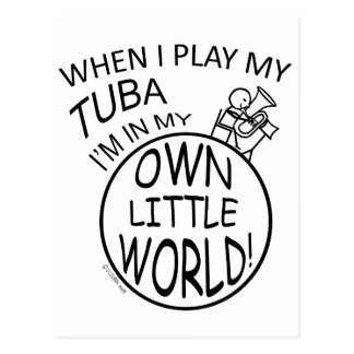 In My Own Little World Tuba Postcard