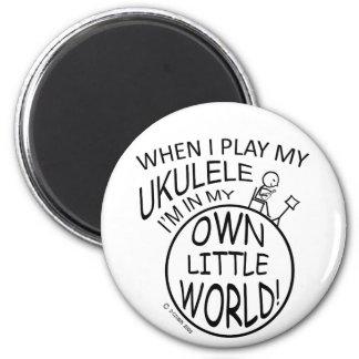 In My Own Little World Ukulele Fridge Magnet