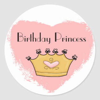 In My Pink Heart Princess Happy Birthday Sticker