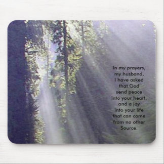 In my prayers mouse pad