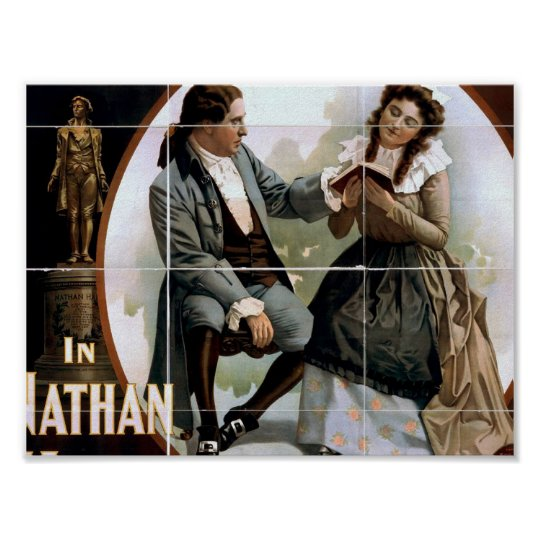 In Nathan Hale, by 'Clyde Fitch' Vintage Theater Poster