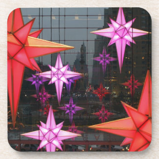 In New York City. Christmas decoration inside Beverage Coaster