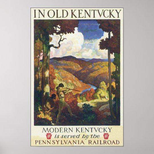 In Old Kentucky Pennsylvania Railroad Poster