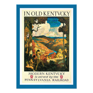 In Old Kentucky Vintage Travel Advertisement Invitations