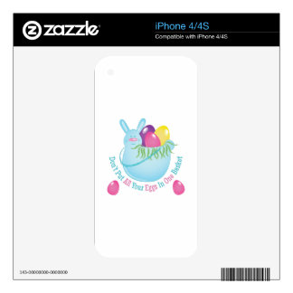 In One Basket Decals For iPhone 4
