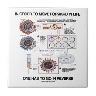In Order To Move Forward In Life Go Reverse Humor Ceramic Tile