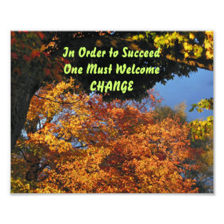 In Order to Succeed One Must Welcome Change Print Photographic Print