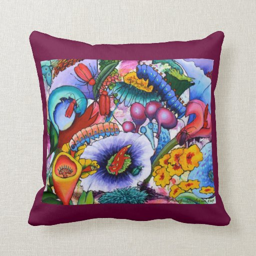 In Our Garden Cushion - cerise Pillows