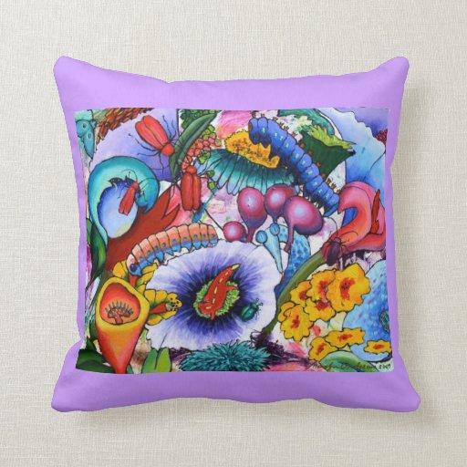 In Our Garden Cushion - lilac Pillows