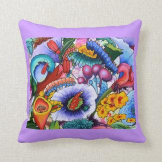 In Our Garden Cushion - lilac Throw Pillows