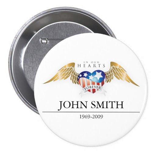 In Our Hearts Forever Customize Buttons