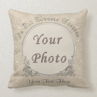 In Our Hearts Forever Photo Memorial Pillows