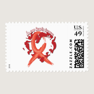 In Our Hearts Forever - Red Postage