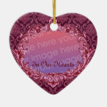 In Our Hearts - Memorial Tribute - Maroon Christmas Ornament