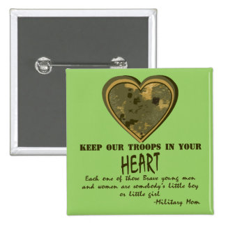 In Our Hearts Pinback Button