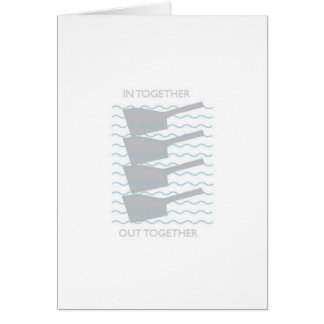In, Out, In,  Out! Coxswain Chant - rowing card