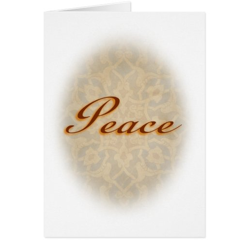 In Peace Greeting Card