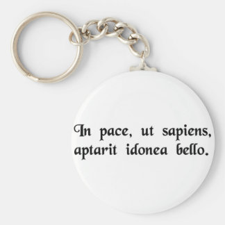 In peace, like a wise man, he appropriately..... key chains
