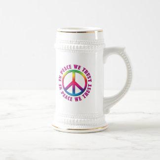 In Peace We Trust Beer Stein