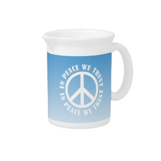 In Peace We Trust Beverage Pitcher
