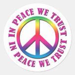 In Peace We Trust Classic Round Sticker